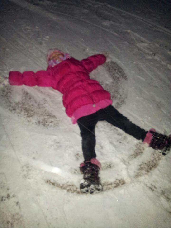 Kayleigh snow angel.